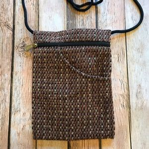 Danny K Tapestry Purse Brown, Beige, Black